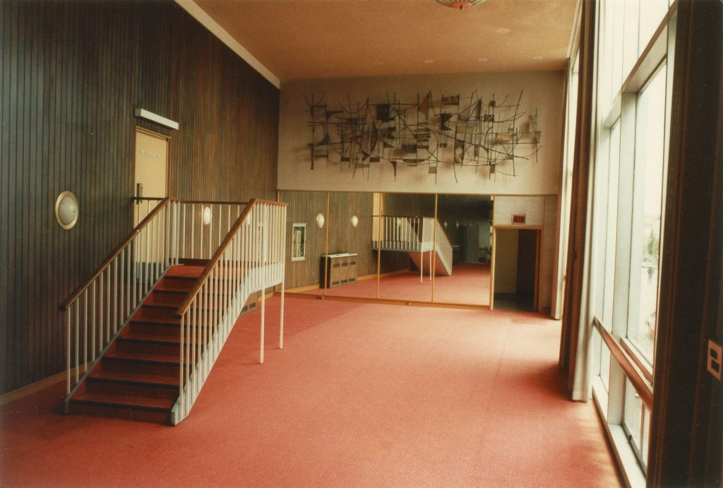 New art for the Queen Elizabeth Theatre was one of the Vancouver Legacies Projects, 1986 or 1987. Reference code: COV-S477-3-F111: CVA 775-31.1