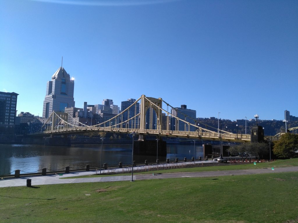 The Roberto Clemente Bridge – one of 446 in Pittsburgh! Photograph by Jana Grazley