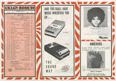 "Simon & Garfunkel are at number one spot with ""Cecilia"" and a Diana Ross album advert is shown in this May 1970 chart. Reference code: AM1444-C91-F6"