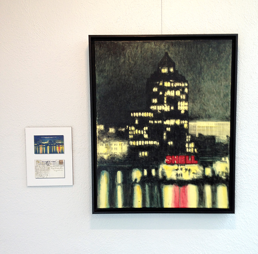 Marine Building by Night (ca. 1940) – 2016, Painting: Acrylic on canvas. Photo: C.Hagemoen