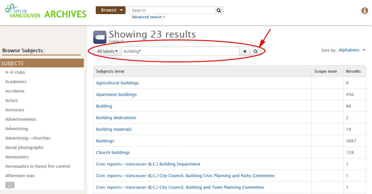 "Search results for subject term ""building*""."