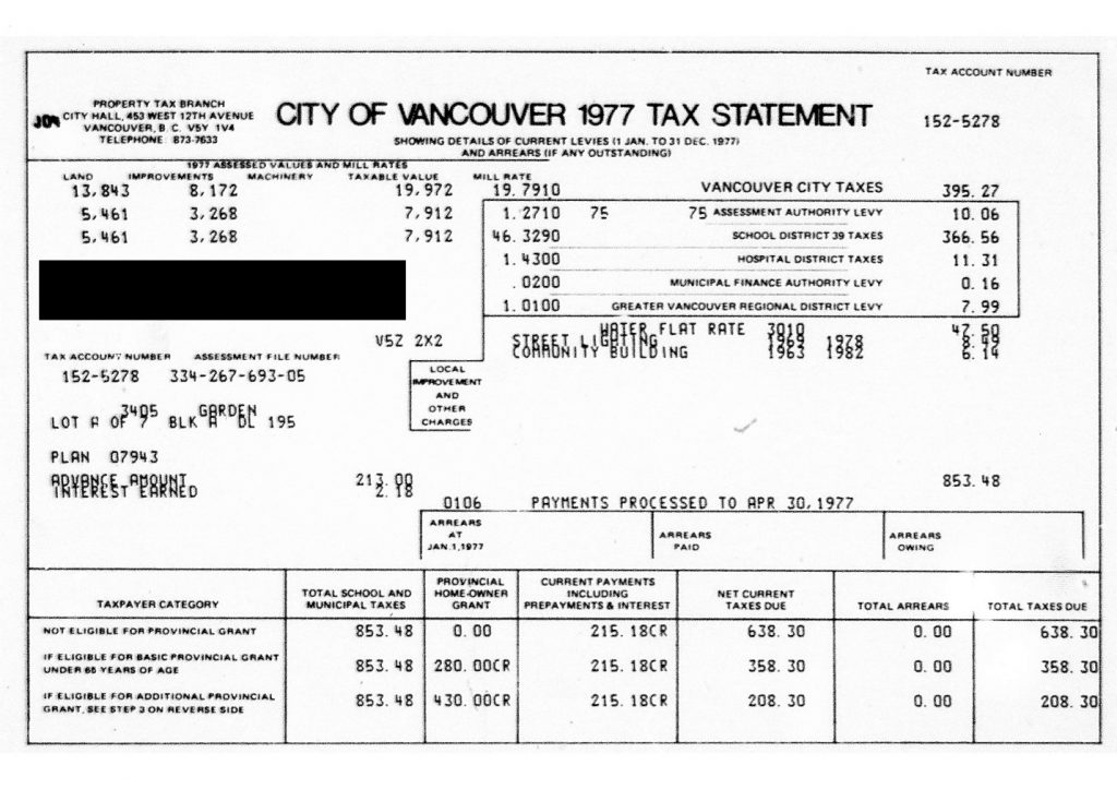 City Of New Westminister Property Taxes